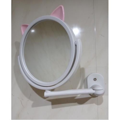 Настенное поворотное косметическое зеркало для ванной с ушками. Белый (УЦЕНКА)  в  Интернет-магазин Zelenaya Vorona™ 7