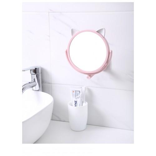 Настенное поворотное косметическое зеркало для ванной с ушками. Белый (УЦЕНКА)  в  Интернет-магазин Zelenaya Vorona™ 5