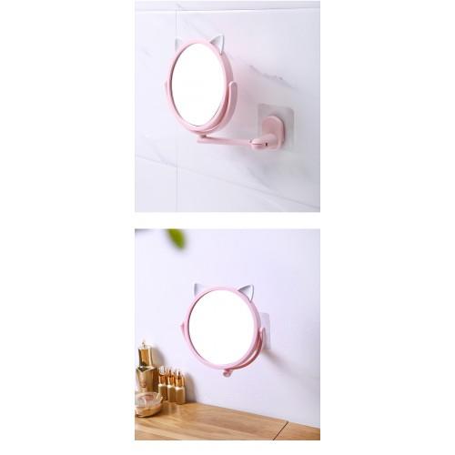 Настенное поворотное косметическое зеркало для ванной с ушками. Белый (УЦЕНКА)  в  Интернет-магазин Zelenaya Vorona™ 3