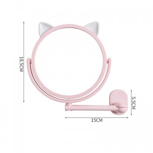 Настенное поворотное косметическое зеркало для ванной с ушками. Розовый (УЦЕНКА)  в  Интернет-магазин Zelenaya Vorona™ 6
