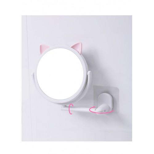 Настенное поворотное косметическое зеркало для ванной с ушками. Белый (УЦЕНКА)  в  Интернет-магазин Zelenaya Vorona™ 2
