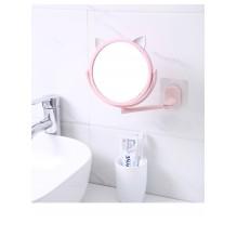 Настенное поворотное косметическое зеркало для ванной с ушками. Белый (УЦЕНКА)
