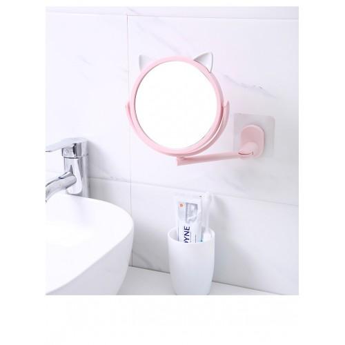 Настенное поворотное косметическое зеркало для ванной с ушками. Белый (УЦЕНКА)  в  Интернет-магазин Zelenaya Vorona™ 4