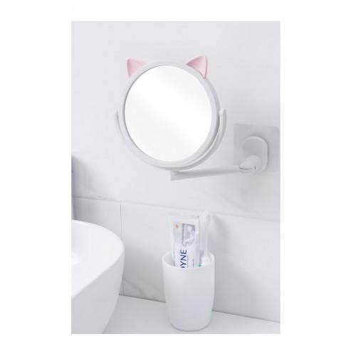 Настенное поворотное косметическое зеркало для ванной с ушками. Белый (УЦЕНКА)  в  Интернет-магазин Zelenaya Vorona™ 1