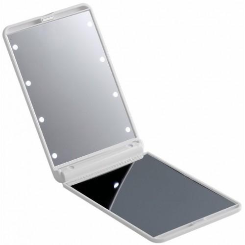 Складное зеркало для макияжа с подсветкой LED Travel Mirror. Белый  в  Интернет-магазин Zelenaya Vorona™ 3